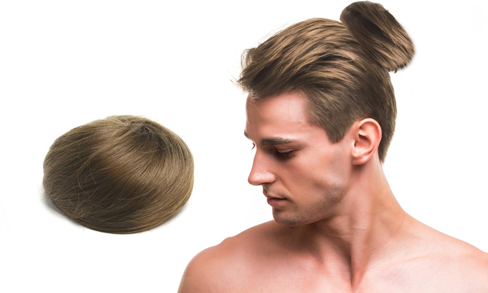 Man bun the original clip on man bun tm - Chignon original ...