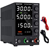 DC Power Supply Variable, Adjustable Switching Bench Power Supply (0-30 V 0-5 A) with 4-Digits LED Display, 5V/3.6A USB Quick