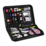 Sewing Kit / Deallink Portable Mini Household Sewing Accessories for Home, Travelling and Emergency Use / Black