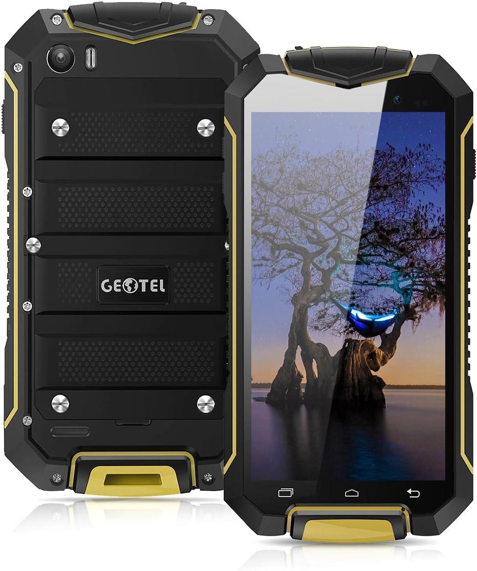 geotel A1 – 3 G Outdoor Smartphone sin Contrato (4.5 pulgadas, Android 7.0, mtk6580 m 1.3 GHz Quad Core, 1 GB RAM, 8 GB ROM, 3400 mAh, IP67 impermeable polvo Densidad GEL5830VL,