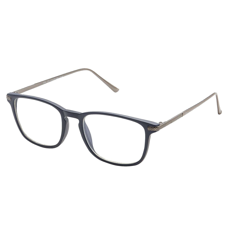 Blue Light Blocking Glasses with Anti-Glare, Cut UV400 Transparent Lens, Computer Reading Glasses, Anti Eyestrain/Anti Scratch/Anti Smudgy, Sleep Better f WealthyShades