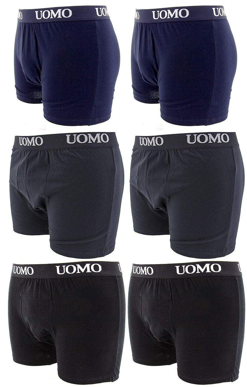 TALLA Medium - etiquetas L. Paquete de 6 Piezas, Calzoncillos Hombre, Boxer Algodon, Ropa Interior Cómoda para Hombres