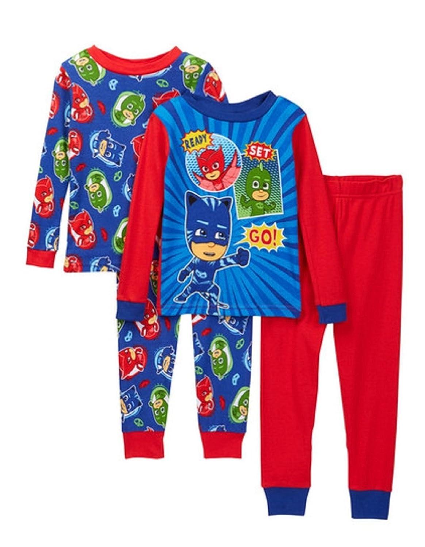 PJ Masks Boys 4-Piece Cotton Pajama Set