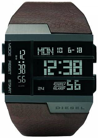 7aae8ed34 Diesel Time Frames Brown Mens Digital Watch DZ7189  Amazon.co.uk  Watches