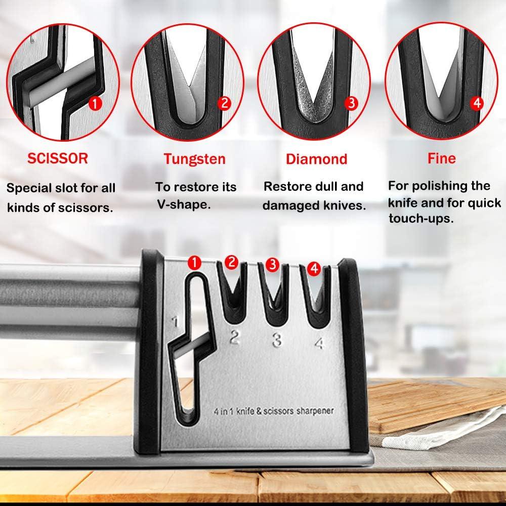 4 in 1 Electric Sharpener Scissors Screwdriver Tools Kitchen Blade Sharp UKSTOCK