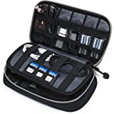 BAGSMART Travel Electronic Accessories Small Thicken Cable Organizer Bag Portable Case - 3 Layer Black Grey