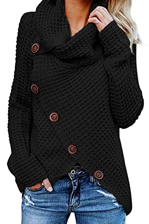 competitive price fb908 97d8d GOSOPIN Damen Strickjacke Grobstrick Cardigan Button down ...