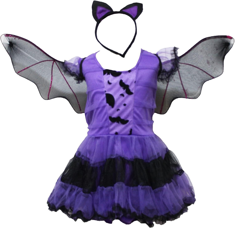 Petitebella Bat Witch Girl Costume Dress 4-14y
