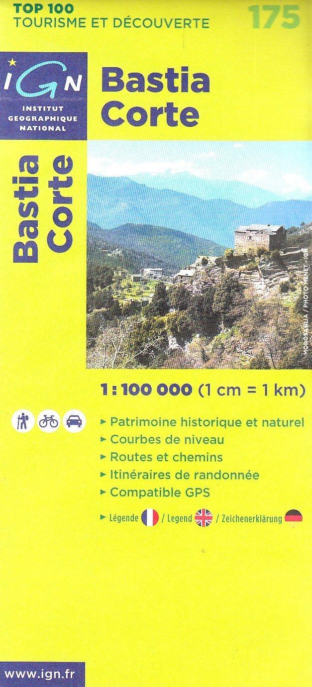 Bastia Corte 1 : 100 000 (Ign Top 100s)