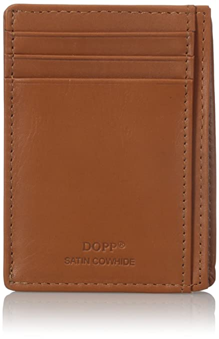 Dopp Men's Regatta Front Pocket Get-away Minamalst Slim Wallet, Tan, One Size