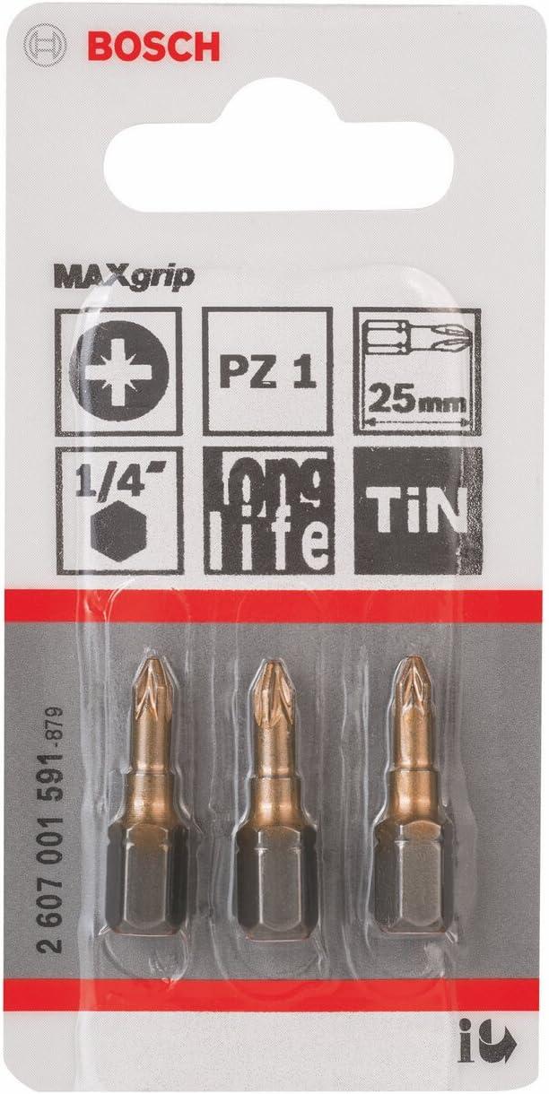 Bosch Screwdriver bit Max Grip Pack of 3 2607001598