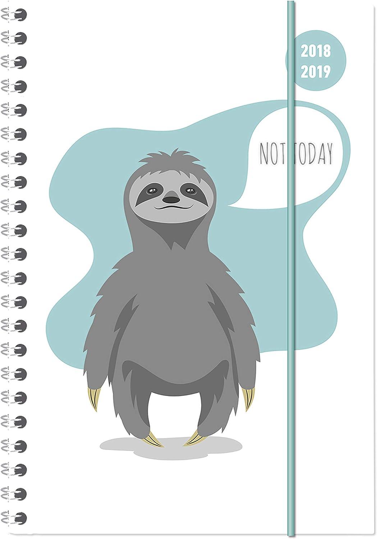 """Diario Agenda Scuola Collegetimer """"Not Today"""" 2018/2019 - Spiralata - Settimanale - 224 Pagine - 15X21 Cm"""