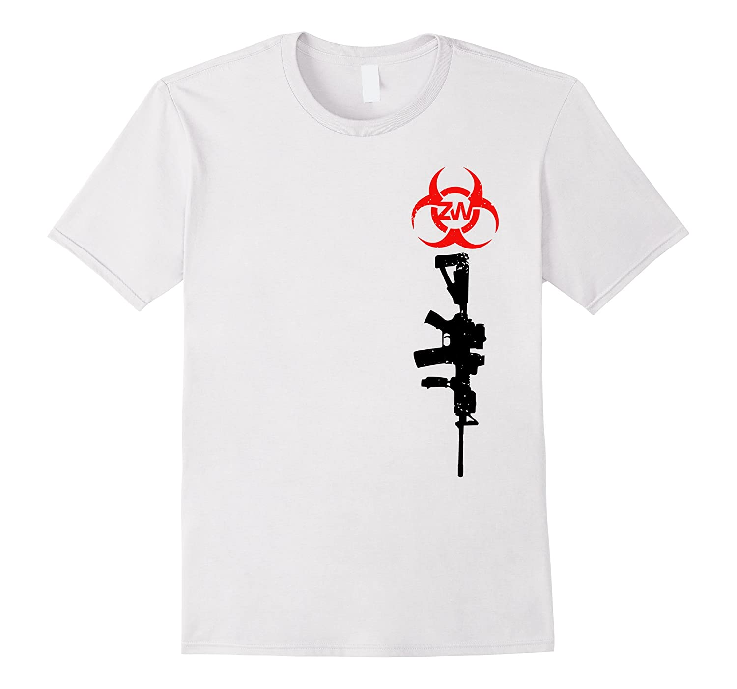 Zombie Ware M4/Back Flag Design T-Shirt-TH