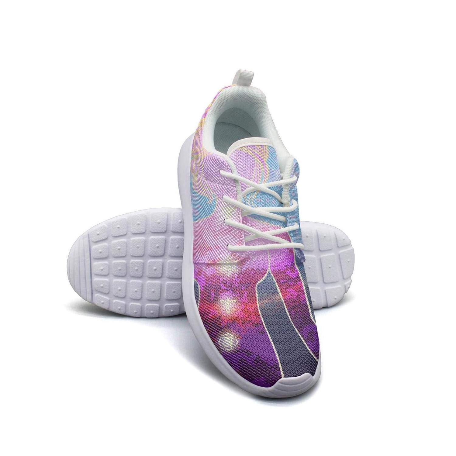 Flower Coloring Decorative Womans Skateboard Casual Shoes Sneakers Simple Tennis Shoes