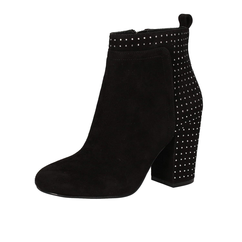 GUESS Botines Mujer Gamuza Negro 37 EU: Amazon.es: Zapatos y complementos