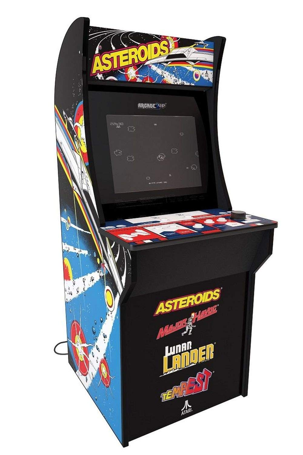 Arcade 1Up – Asteroids Deluxe Classic Arcade Game Cabinet for Kids and Adults – 3/4 Scale – Coinless Operation – 4 Games in 1 (Asteroids, Major Havoc, Lunar Lander and Tempest) by Arcade 1 Up (Image #2)