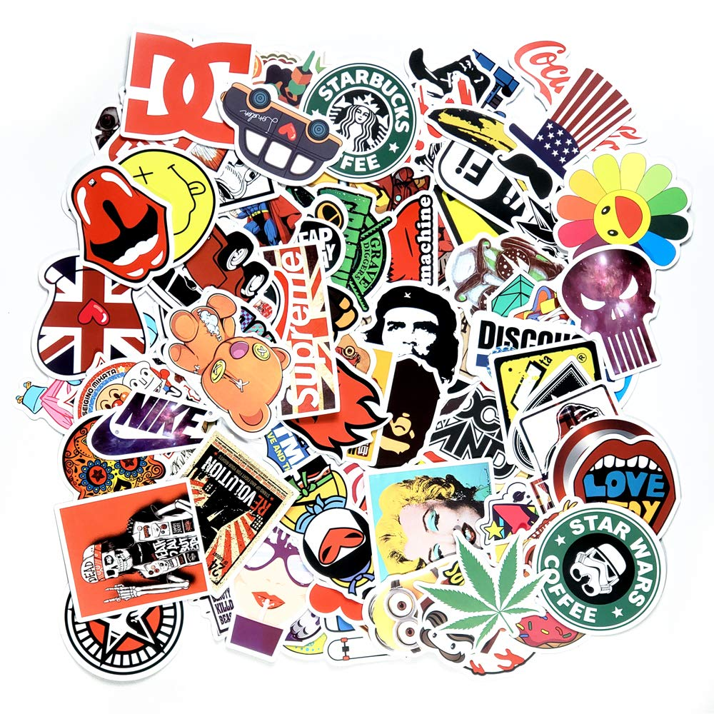 Jtl stickers boom packbunch of brand anime comics movies graffiti video games hypebeast cartoon vinyl stickers decals for laptop macbookcars bumper