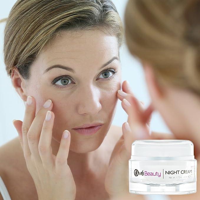 Ové Beauty - La mejor crema hidratante de noche para cara, cuello y la zona de los ojos | Crema reafirmante antiarrugas: Amazon.es: Belleza