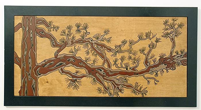 Amazon.com: Weathered Pine Tree, Wood Wall Art, Home Decor Wall ...