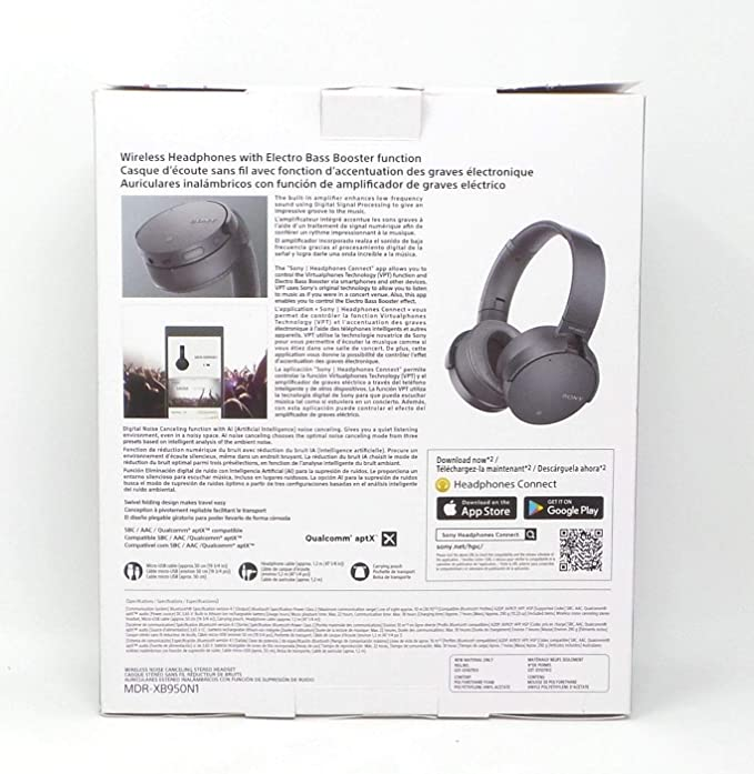 Amazon.com: Sony Extra Bass Wireless Headphones Bluetooth Noise Canceling MDR XB950N1 Gray: Electronics
