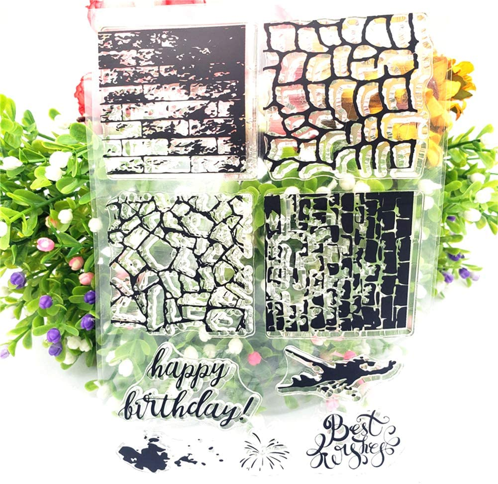 Maserfaliw Stamp Wall Space Words Clear Stamp Seal DIY Scrapbooking Card Making Photo Diary Decor