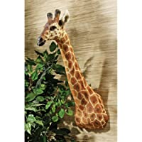 Design Toscano KY2069 African Giraffe Trophy Wall Sculpture Full Color Realistic Multi-Color