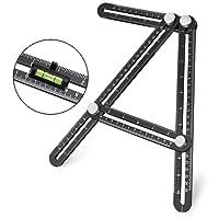 Angle-izer template tool, UBeesize Premium Aluminum Alloy Multi-Angle Measuring Ruler with Unique Line Level for DIY, Carpenters, Craftsmen