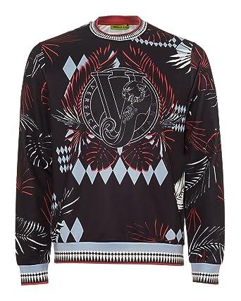 9fd59755c42 Versace Jeans hommes sweat noir EU M (UK 38) B7GRB7FD  Amazon.fr ...