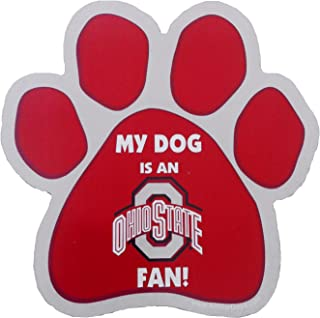 product image for NCAA Ohio State Buckeyes Paw Print Car Magnet