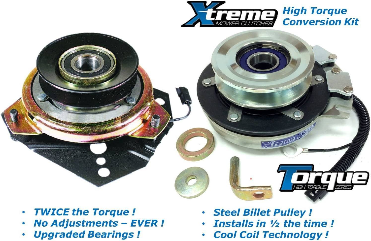PTO Clutch Replacement For Cub Cadet 01001979P High Torque /& Upgraded Bearings