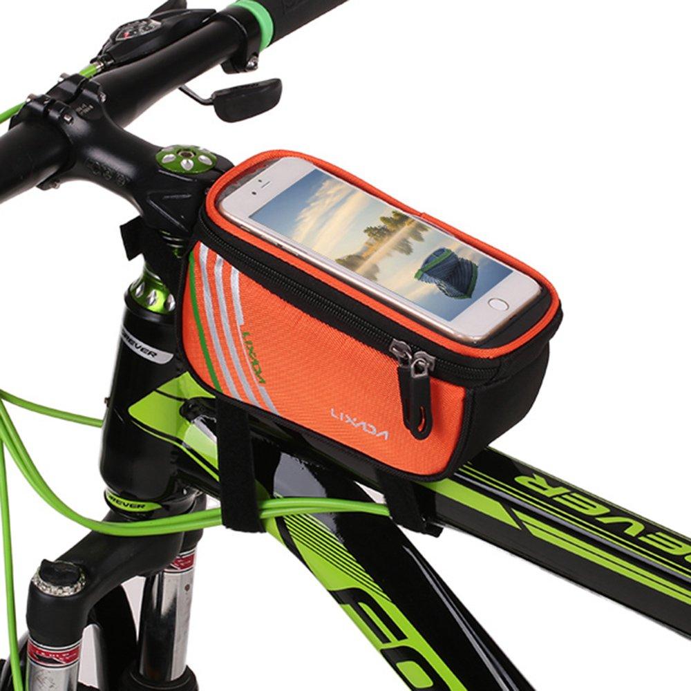 Lixada Ciclismo Bicicleta Tubo Delantero Superior Smartphone Bolsa Bicicleta Marco Pannier Pack Bolsa 5.7 Teléfono Titular