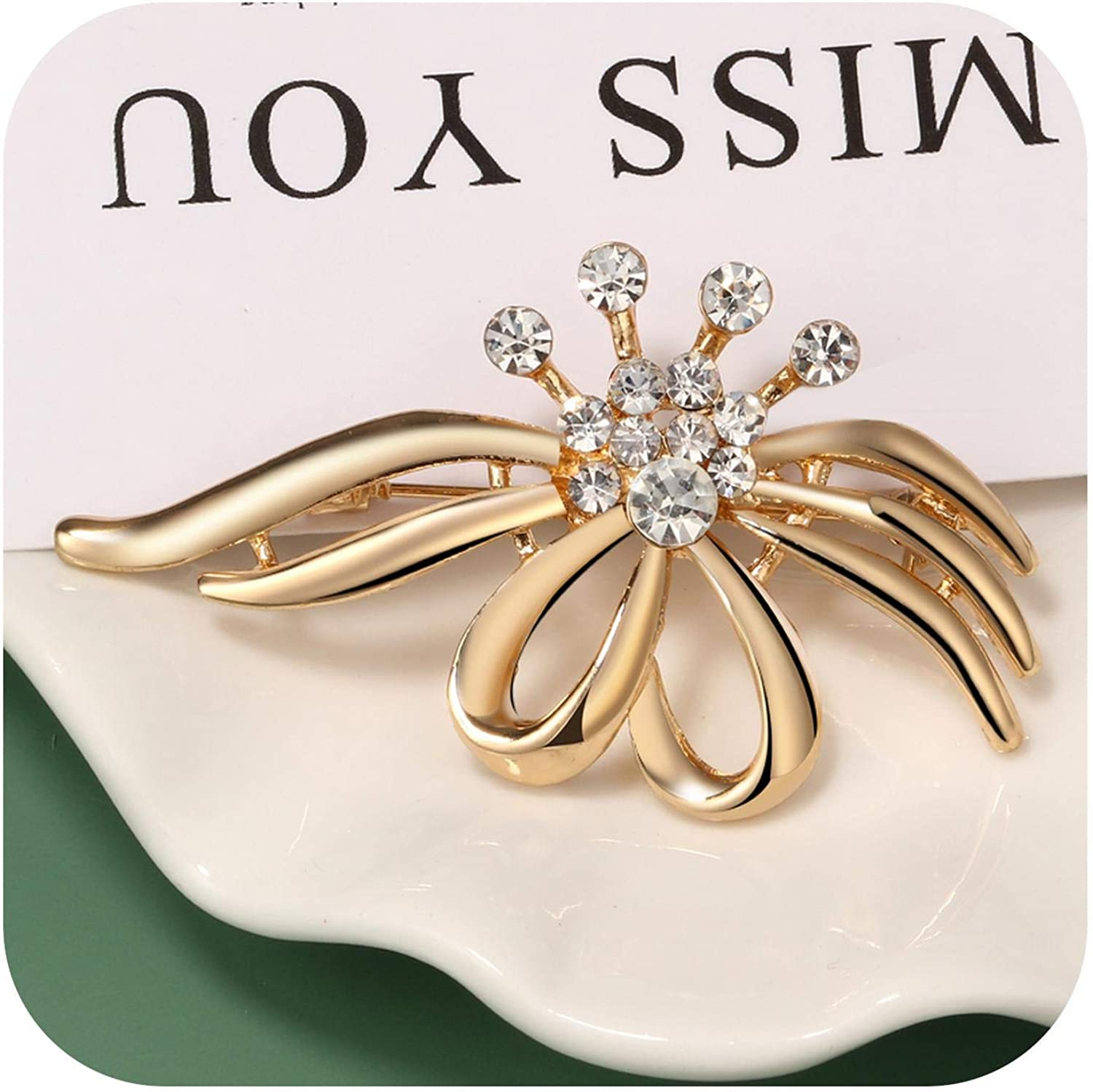 Chllrg Unique Design Cute Animal Spider Brooch Crystal Pin Women Clothes Sweater Jewelry Stranger Things