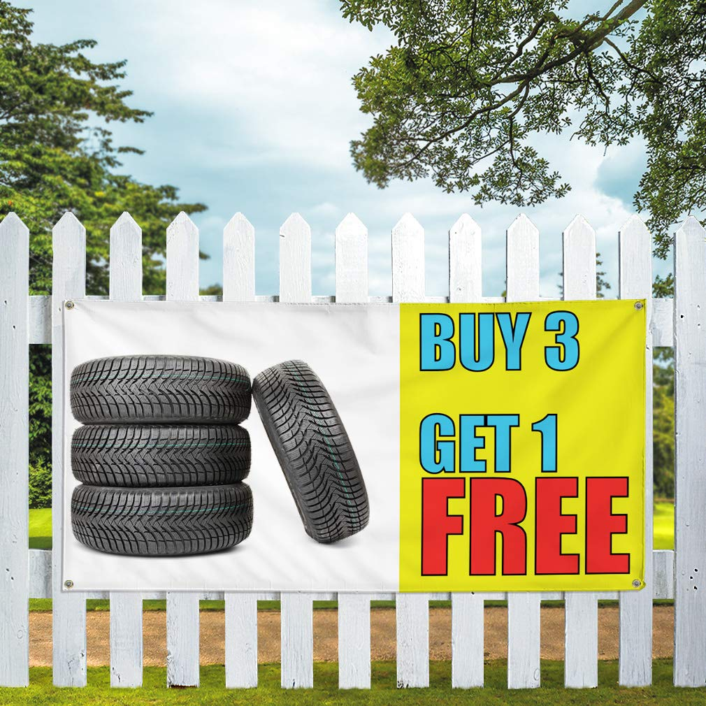 32inx80in Set of 2 Vinyl Banner Sign Buy 3 Get 1 Free #1 Business Outdoor Marketing Advertising White 6 Grommets Multiple Sizes Available