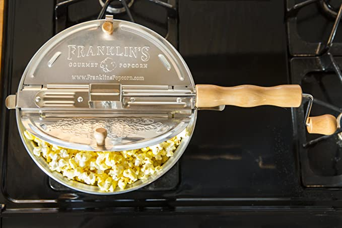 Amazon.com: Franklins Original Whirley Pop Stovetop Popcorn ...