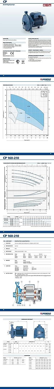Elettropompa CP Centrifuga CPm160C 1,5Hp Ottone 220V Pompa Acqua Pedrollo