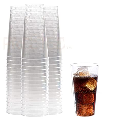 Amazoncom Clear Plastic Cups 16 Oz 100 Pack Hard Disposable