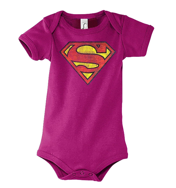 Gr/ö/ße 3-24 Monate in vielen Farben TRVPPY Baby Jungen /& M/ädchen Kurzarm Body Strampler Modell Vintage Superman