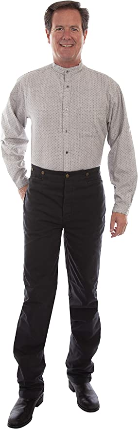 Victorian Men's Pants – Victorian Steampunk Men's Clothing Scully Rangewear Mens Rangewear Canvas Pants  AT vintagedancer.com