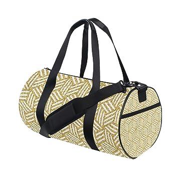 Amazon.com: Bolso de viaje isométrico con purpurina dorada ...