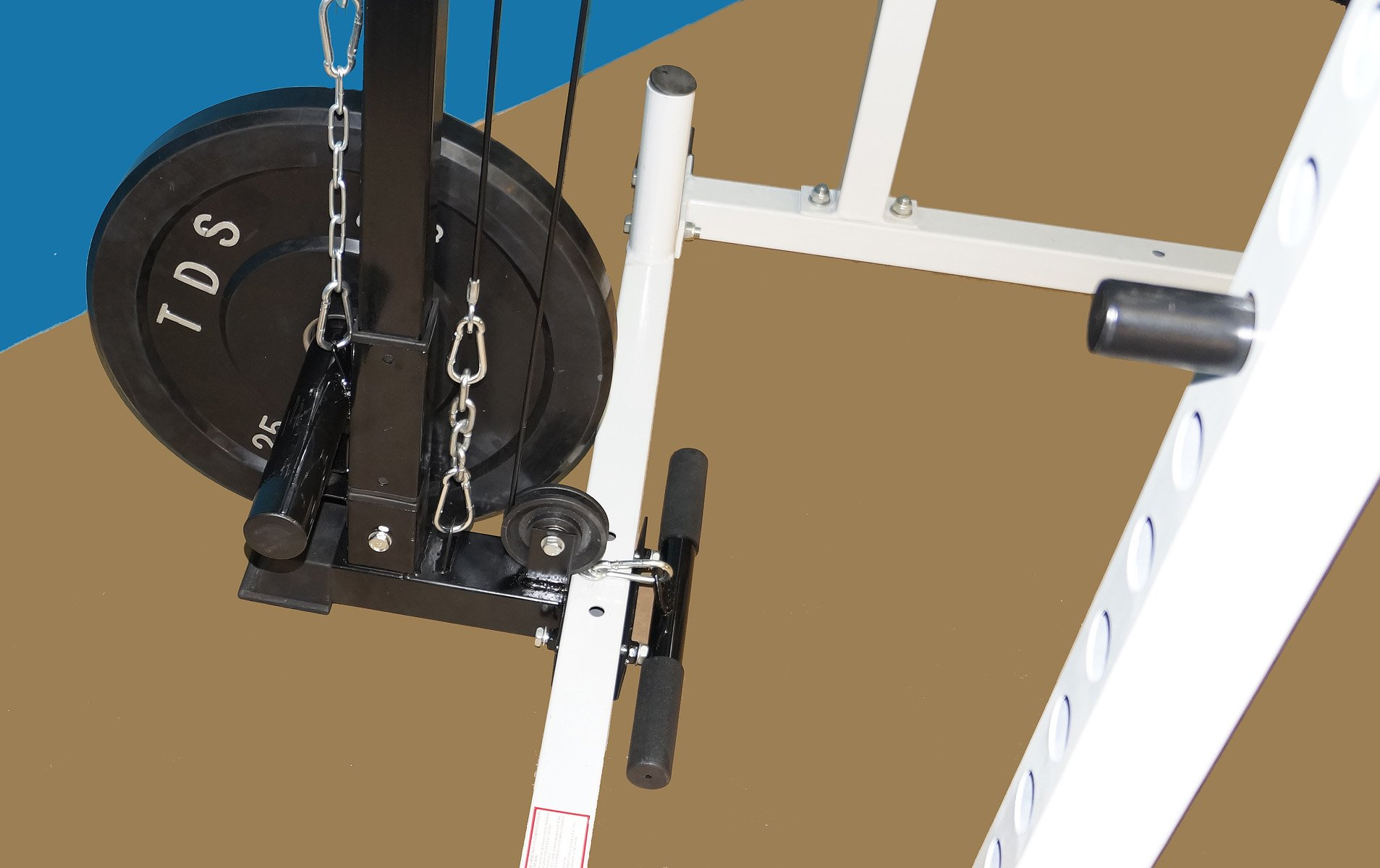 Tds Power Rack Squat Cage With Lat Row Attachment