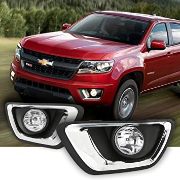 Chevy Colorado 2018 >> Ledin For 2015 2016 2017 2018 2019 Chevrolet Colorado Chevy Clear Lens Fog Lights Kit W Bezel Bulbs