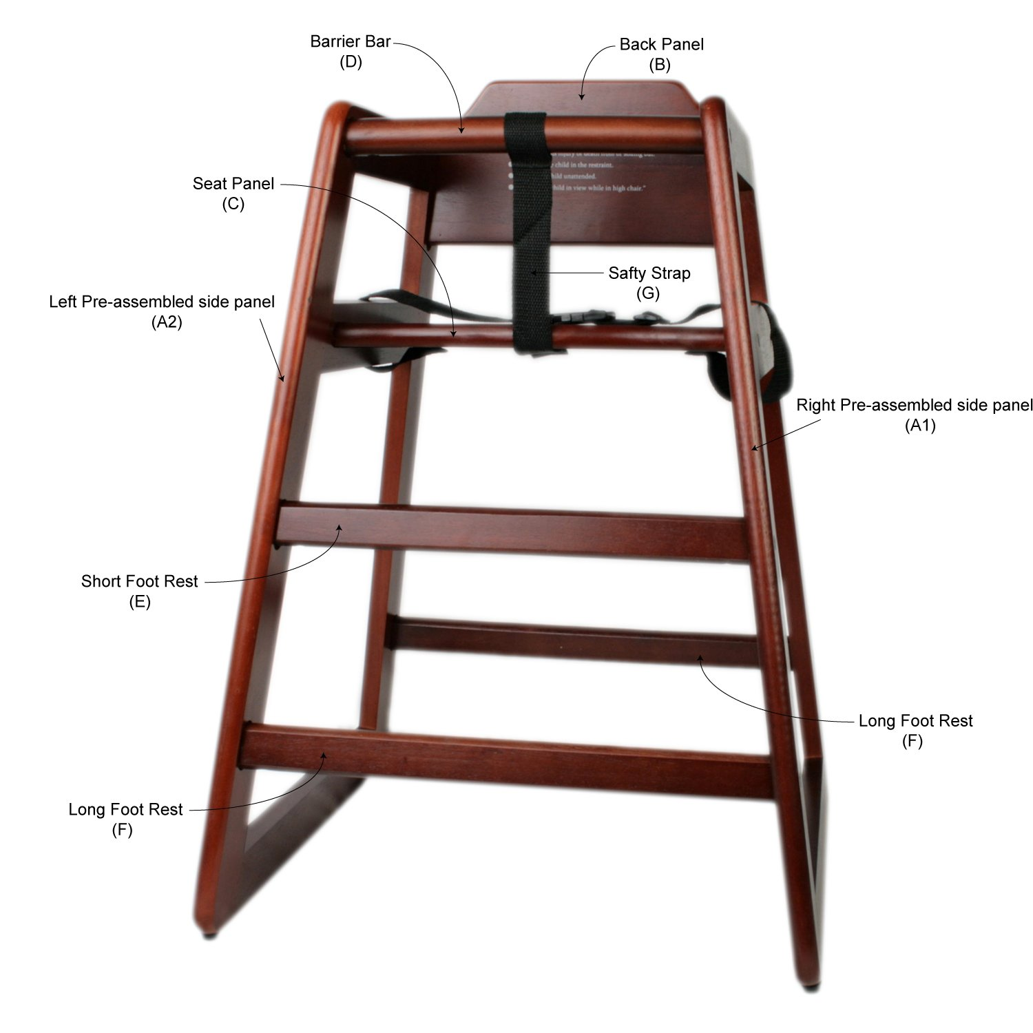Amazon Excellante Wooden High Chair Walnut Packaging May