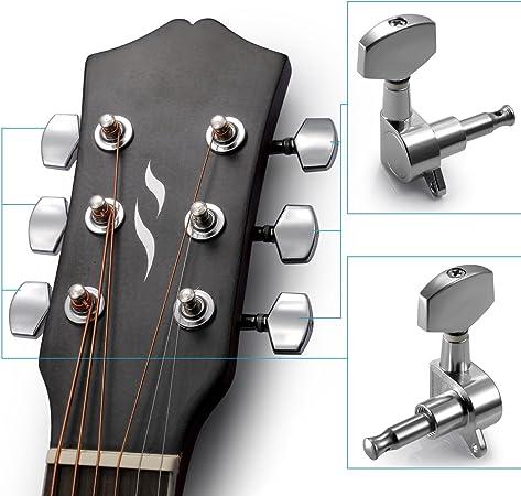 Neewer® 12 unidades Guitarra Cuerdas Clavijas de afinación ...