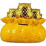 縁起物 貯金箱 黄金の三匹ふくろうバンク SAN2162