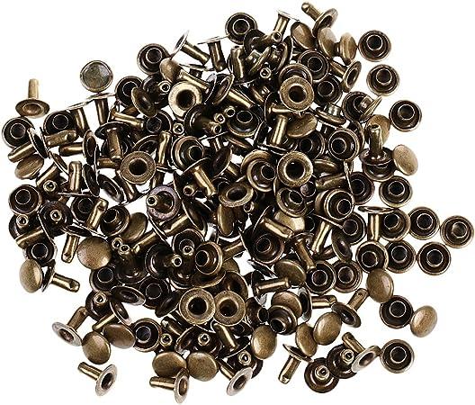 100 ensembles 6 mm ronde fer Rivets RAPID Rivets pour rivetage décorer AD