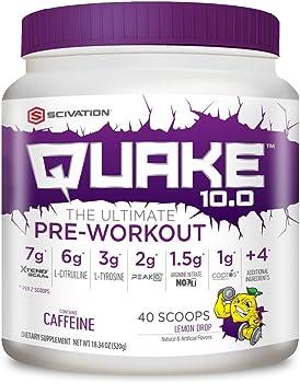 Scivation Quake 10.0 Pre-Workout Lemon Drop 40 Servings
