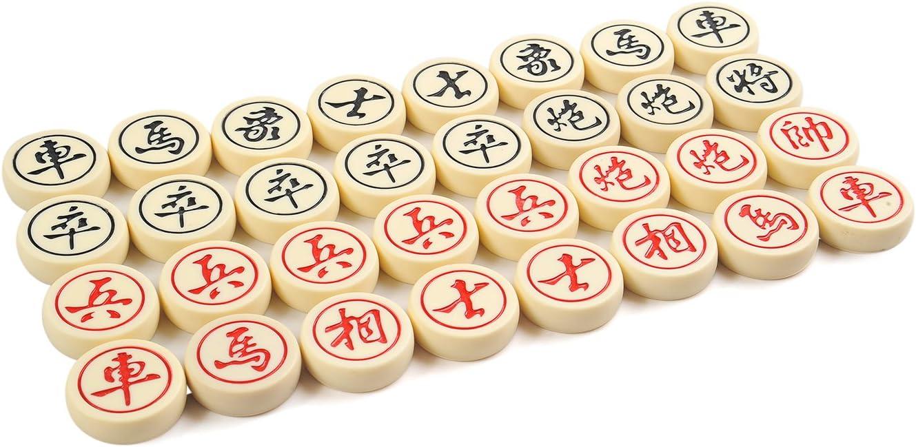 Quantum Abacus Premium Xiangqi: Piezas Profesionales, Pesadas para ajedrez Chino / Xiangqi, Hecho de Resina de melamina, tamaño M: diámetro 4cm, 1,2kg, Mod. CL-158: Amazon.es: Juguetes y juegos