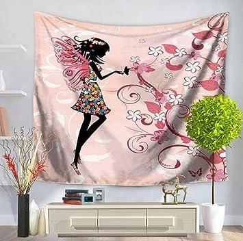 ouliu decoración del hogar pared arte tapiz toalla de playa de pared Art de perro Tela de poliéster para colgar en la pared decoración de la pared: ...