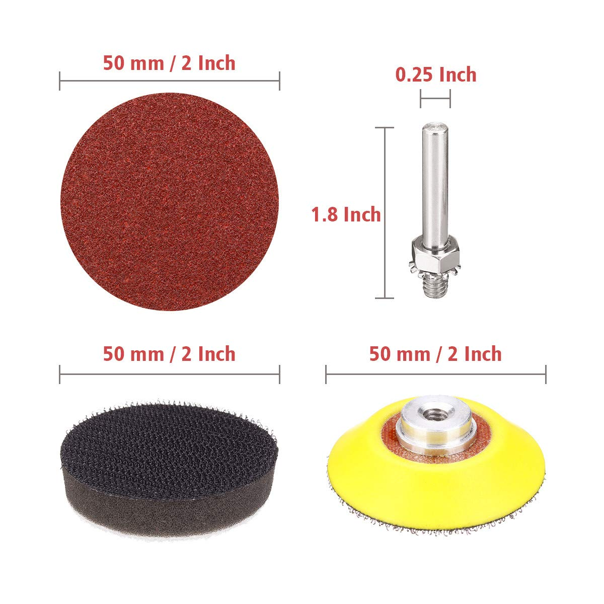 DRILLPRO 120pcs 2 Inch Sanding Discs Pad with 1//4 Shank Backer Plate and 2pcs Sponge Cushions for Drill Grinder Rotary Tools 60-3000 Grit Sandpapers OUTDOOR ELETRONICS