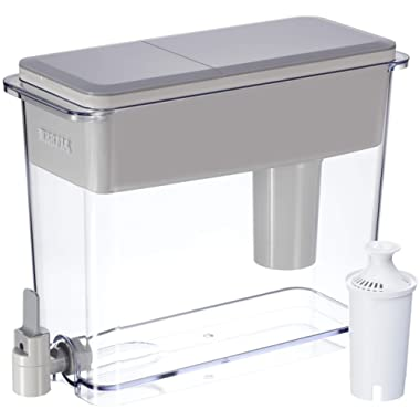 Brita 36223 18 Cup UltraMax Water Dispenser with 1 Filter, BPA Free, Gray
